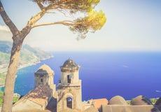 Деревня Ravello, побережье Амальфи Италии Стоковая Фотография