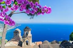 Деревня Ravello, побережье Амальфи Италии Стоковое Фото