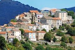 Деревня Riventosa, Корсика стоковые фотографии rf