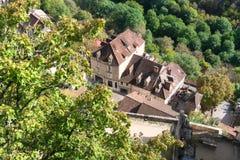 Деревня Rocamadour в Франции Стоковое фото RF
