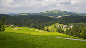 Деревня Rovte, Словения Стоковые Фотографии RF