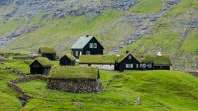 Деревня Saksun в Фарерских островах стоковое изображение rf