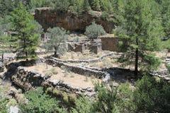 Деревня Samaria в ущелье samaria Стоковое Изображение