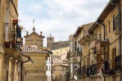 Деревня San Vicente de Ла sonsierra, Испания Стоковые Фотографии RF