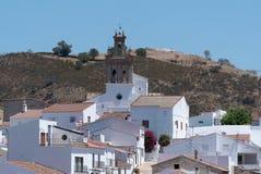 Деревня Sanlucar de гвадианы, на испанском береге Рио стоковые изображения rf