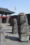 Деревня Seongeup фольклорная, остров Jeju, Корея Стоковое фото RF