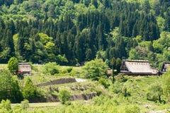 Деревня shirakawa-ko стоковое изображение