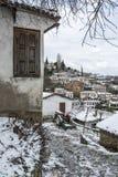 Деревня Sirince, деревня Sirince под снегом Стоковые Фотографии RF