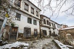Деревня Sirince, деревня Sirince под снегом Стоковые Изображения