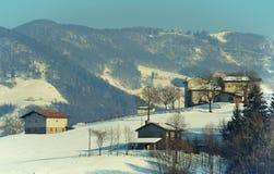 Деревня Snowy стоковые фото