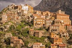 Деревня Speloncato в зоне Balagne Корсики Стоковое Изображение