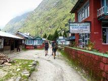Деревня Tal в Непале Стоковое Фото