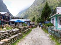 Деревня Tal в Непале Стоковое Изображение RF