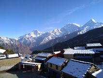 Деревня Tikot трека Mohare стоковые фото