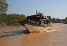 Деревня Vietamese плавая Стоковое фото RF