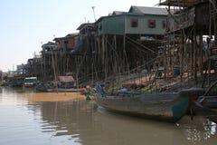 Деревня Vietamese плавая Стоковые Изображения RF