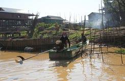 Деревня Vietamese плавая Стоковые Фотографии RF