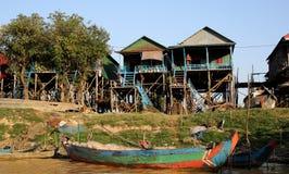 Деревня Vietamese плавая Стоковые Изображения