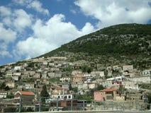 Деревня Vuno, южная Албания Стоковая Фотография RF