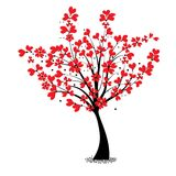Дерево валентинки иллюстрация вектора