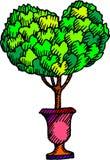 Дерево влюбленности Стоковые Изображения