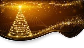Дерево волшебства рождества Стоковое Изображение