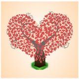 Дерево в сердцах Стоковое фото RF