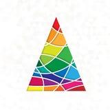Дерево в цветах радуги стоковые фото