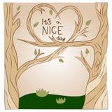 Дерево влюбленности иллюстрации вектора Стоковое Фото