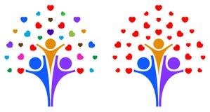 Дерево влюбленности семьи бесплатная иллюстрация