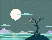 Дерево влюбленности бесплатная иллюстрация