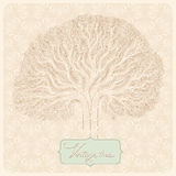 Дерево год сбора винограда Иллюстрация штока
