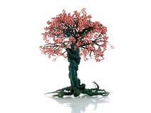 Дерево денег на белой предпосылке Деньги фонтана дерева Стоковая Фотография