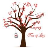 Дерево дня валентинки изображения вектора влюбленности Стоковая Фотография RF