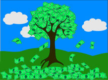 Дерево денег (вектор) Стоковые Изображения RF