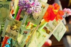 Дерево денег на традиционной буддийской церемонии Стоковые Изображения RF