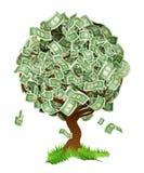 Дерево денег Стоковое Изображение
