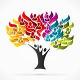 Дерево дела иллюстрация вектора