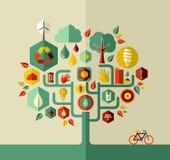 Дерево жизни Eco устойчивое Стоковое Изображение