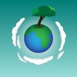Дерево земли Стоковые Фото
