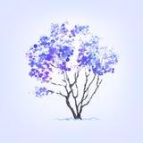 Дерево зимы помарок иллюстрация вектора