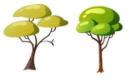 Дерево иллюстрации для шаржа Стоковое фото RF
