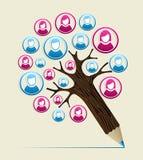 Дерево карандаша концепции потребителя члена бесплатная иллюстрация
