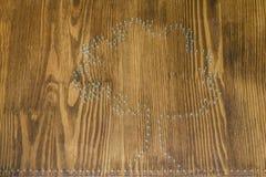 Дерево контура сделано ногтей Стоковые Изображения RF