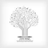 Дерево монтажной платы вектора электронное Стоковое Фото