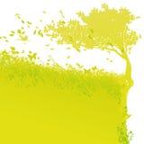 Дерево на крае иллюстрация штока
