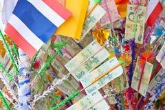 Дерево на традиционной буддийской церемонии, Kathin денег, Таиланд Стоковые Фотографии RF