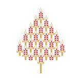 Дерево Нового Года сделано от ушей пшеницы Стоковое Фото