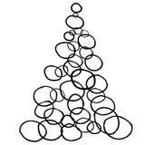 дерево 2019 Новых Годов иллюстрация штока