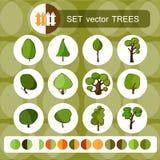 Дерево логос элементов конструкции собрания зеленый Стоковая Фотография RF